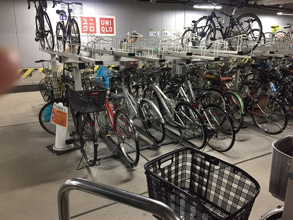 京都ヨドバシ駐輪場自転車料金