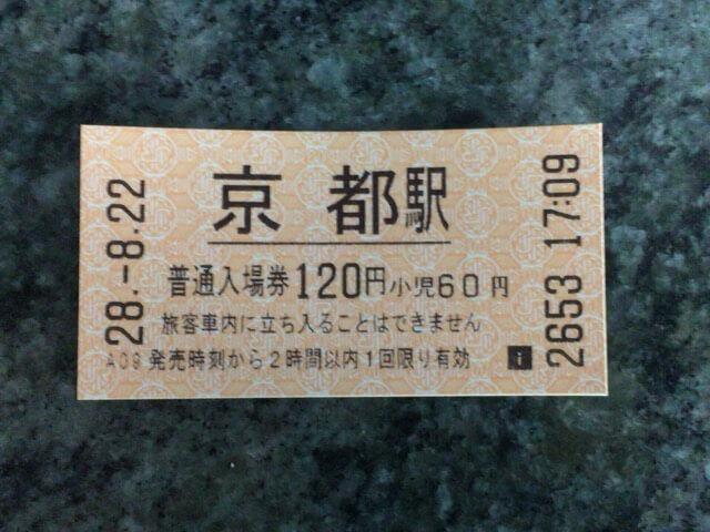 京都駅切符