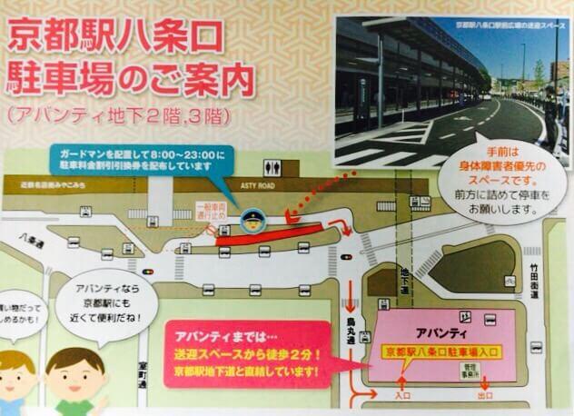 京都駅八条口駐車場案内