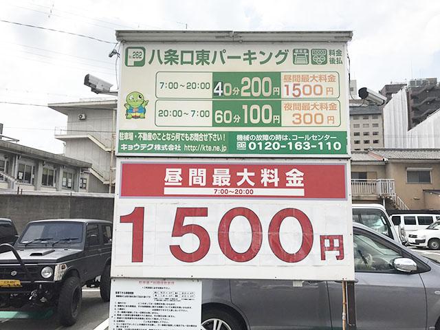 京都駅八条口東パーキング