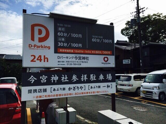 今宮神社駐車場