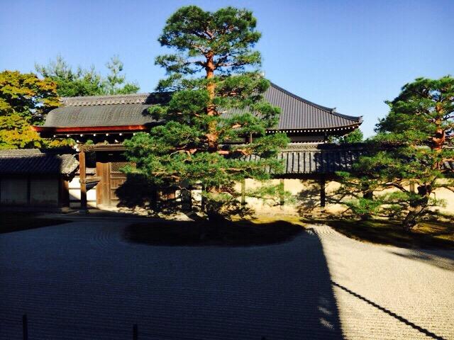 天龍寺庭園内
