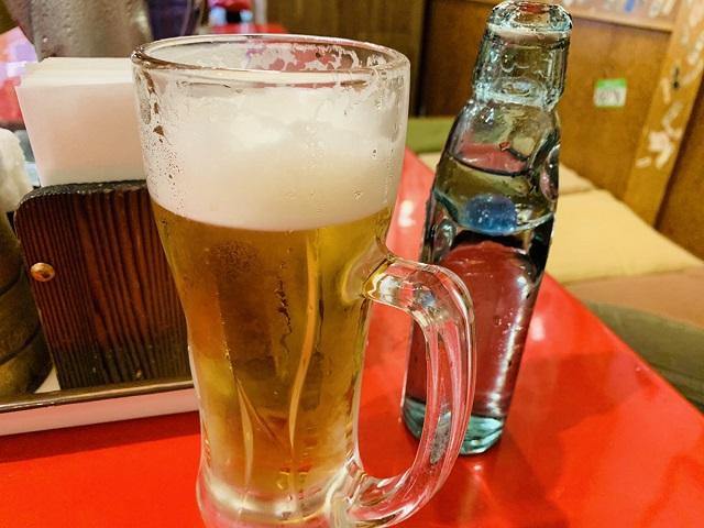 壹銭洋食ビール