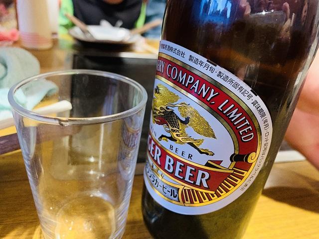 とんちんかん瓶ビール