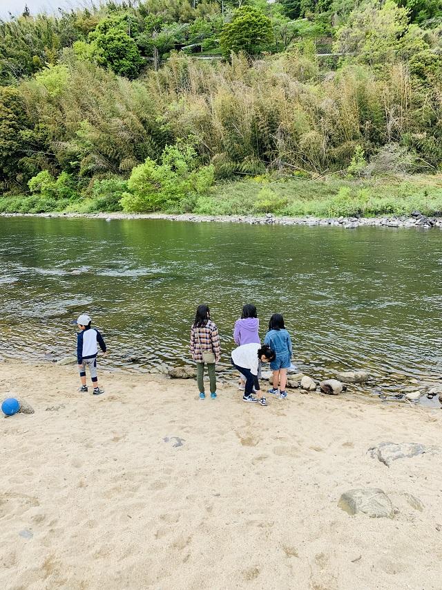笠置キャンプ場川遊び