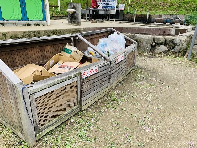 笠置キャンプ場ゴミ箱