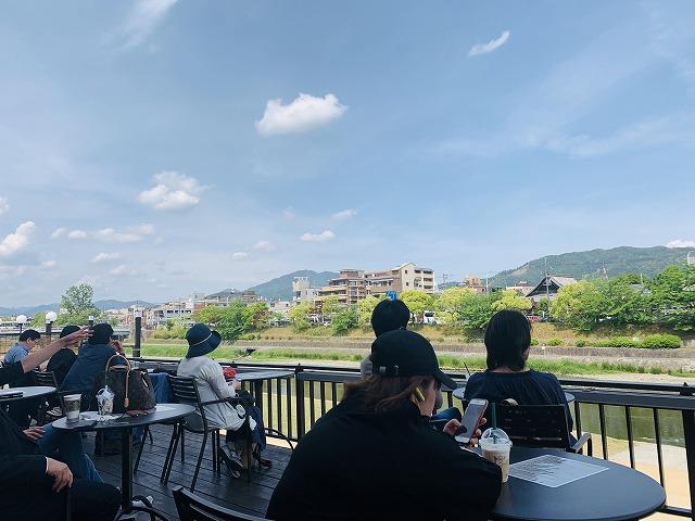 スターバックス・コーヒー 京都三条大橋店川床