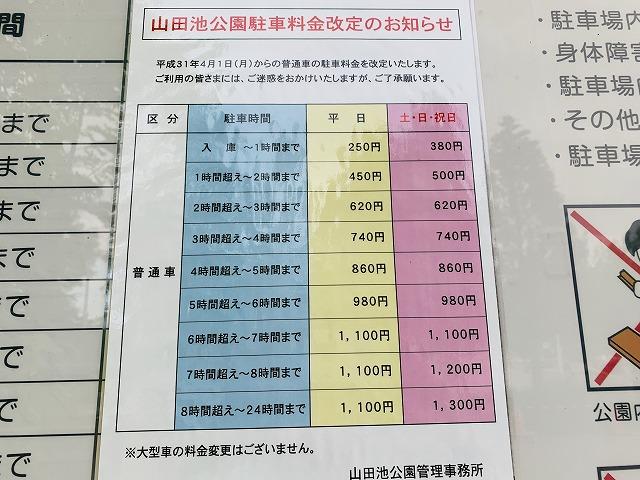 山田池公園料金