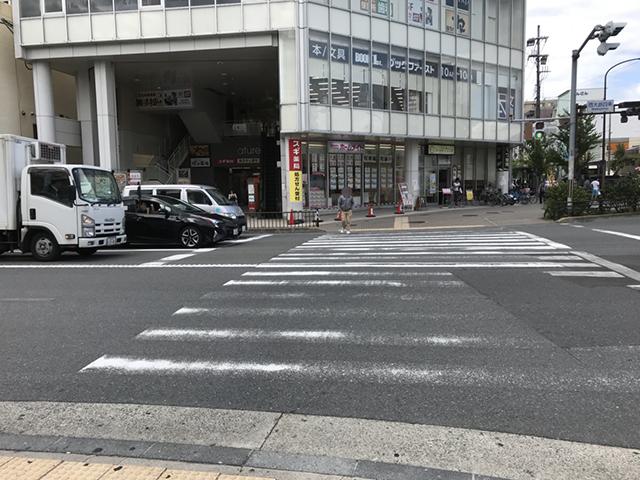 阪急西院駅横断歩道